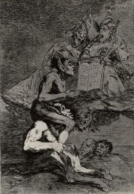 Francisco de Goya y Lucientes (Spanish, 1746-1828). <em>Devota Profesion</em>, 1797-1798. Etching and aquatint on laid paper, Sheet: 11 7/8 x 8 in. (30.2 x 20.3 cm). Brooklyn Museum, A. Augustus Healy Fund, Frank L. Babbott Fund, and Carll H. de Silver Fund, 37.33.70 (Photo: Brooklyn Museum, CUR.37.33.70.jpg)
