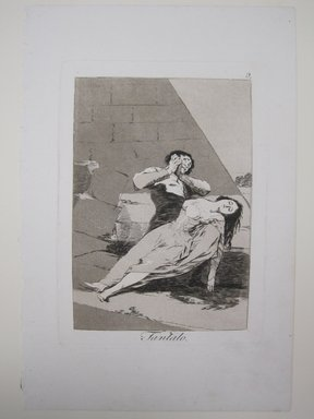 Francisco de Goya y Lucientes (Spanish, 1746-1828). <em>Tantalus (Tantalo)</em>, 1797-1798. Etching and aquatint on laid paper, Sheet (Uneven): 11 7/8 x 7 15/16 in. (30.2 x 20.2 cm). Brooklyn Museum, A. Augustus Healy Fund, Frank L. Babbott Fund, and Carll H. de Silver Fund, 37.33.9 (Photo: Brooklyn Museum, CUR.37.33.9.jpg)