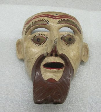 <em>Mask</em>, early 20th century. Wood, pigment, 8 1/4 x 7 1/2 x 4 1/2 in. (21 x 19.1 x 11.4 cm). Brooklyn Museum, Frank L. Babbott Fund, 37.351. Creative Commons-BY (Photo: Brooklyn Museum, CUR.37.351_front.jpg)