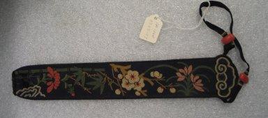 <em>Fan Case</em>. Silk, beads, 1 15/16 x 11 13/16 in. (5 x 30 cm). Brooklyn Museum, Frank L. Babbott Fund, 37.371.57. Creative Commons-BY (Photo: Brooklyn Museum, CUR.37.371.57.jpg)