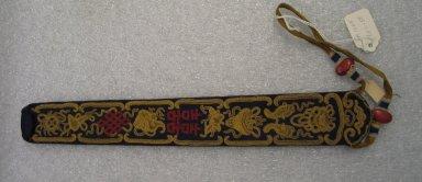 <em>Fan Case</em>. Silk, satin, beads, 1 3/4 x 12 3/16 in. (4.5 x 31 cm). Brooklyn Museum, Frank L. Babbott Fund, 37.371.58. Creative Commons-BY (Photo: Brooklyn Museum, CUR.37.371.58.jpg)