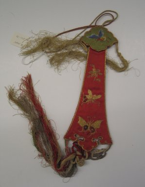 <em>Pendant Accessory</em>. Silk, satin, 8 11/16 x 3 1/8 in. (22 x 8 cm). Brooklyn Museum, Frank L. Babbott Fund, 37.371.79. Creative Commons-BY (Photo: Brooklyn Museum, CUR.37.371.79_side1.jpg)