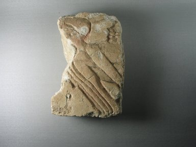 <em>Relief Fragment of a Row of Men</em>, ca. 1352-1332 B.C.E. Limestone, pigment, 8 13/16 x 5 9/16 x 2 3/8 in. (22.4 x 14.2 x 6 cm). Brooklyn Museum, Gift of the Egypt Exploration Society, 37.406. Creative Commons-BY (Photo: Brooklyn Museum, CUR.37.406_view1.jpg)