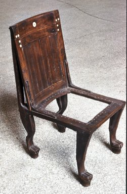 Chair ca. 1400-1292 B.C.E. Wood bone modern fiber 35 7/16 x 17 15/16 x 18 5/8 in. (90 x 45.6 x 47.3 cm). Brooklyn Museum Charles Edwin Wilbour Fund ... & Brooklyn Museum