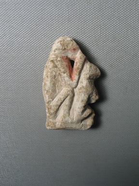 <em>Two Monkeys</em>, ca. 1352-1336 B.C.E. Limestone, pigment, 2 1/2 × 1 7/16 × 1/2 in. (6.3 × 3.7 × 1.3 cm). Brooklyn Museum, Gift of the Egypt Exploration Society, 37.410. Creative Commons-BY (Photo: , CUR.37.410_view01.jpg)