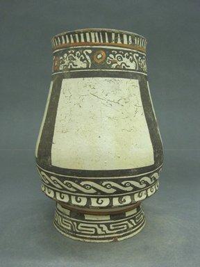 Nicoya. <em>Pear Shaped Vessel</em>, 20th century. Ceramic, pigment, 8 7/8 x 6 x 6 in. (22.5 x 15.2 x 15.2 cm). Brooklyn Museum, Charles Stewart Smith Memorial Fund, 37.481. Creative Commons-BY (Photo: Brooklyn Museum, CUR.37.481.jpg)