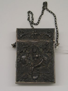 <em>Card Case</em>. Silver, 4 1/16 x 2 7/8 x 9/16 in. (10.3 x 7.3 x 1.5 cm). Brooklyn Museum, Gift of the Estate of Hannah Somers, 37.484. Creative Commons-BY (Photo: Brooklyn Museum, CUR.37.484_side1.jpg)