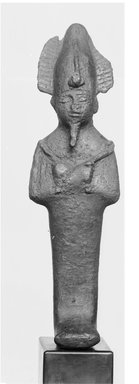 <em>Small Statuette of Osiris</em>. Bronze Brooklyn Museum, Charles Edwin Wilbour Fund, 37.562E. Creative Commons-BY (Photo: Brooklyn Museum, CUR.37.562E_NegID_37.562E_GRPA_cropped_bw.jpg)