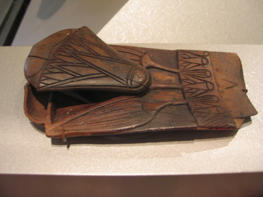<em>Fragment of Spoon in Form of Lotus</em>, ca. 1539-1292 B.C.E. Wood, 2 3/4 x 5 1/2 in. (7 x 14 cm). Brooklyn Museum, Charles Edwin Wilbour Fund, 37.606E. Creative Commons-BY (Photo: Brooklyn Museum, CUR.37.606E_erg456.jpg)