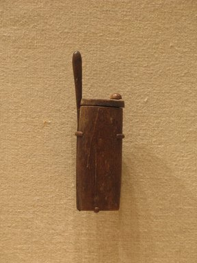 <em>Kohl Tube</em>, ca. 1336-1295 B.C.E. Wood, Height: 2 3/4 in. (7 cm). Brooklyn Museum, Charles Edwin Wilbour Fund, 37.634Ea-b. Creative Commons-BY (Photo: Brooklyn Museum, CUR.37.634E_wwg8.jpg)