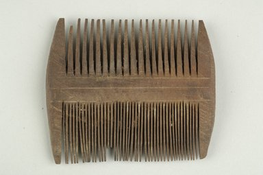<em>Comb</em>, 395-642 C.E. Wood, 2 15/16 x 1/2 x 3 3/8 in. (7.5 x 1.3 x 8.5 cm). Brooklyn Museum, Charles Edwin Wilbour Fund, 37.671E. Creative Commons-BY (Photo: Brooklyn Museum (in collaboration with Index of Christian Art, Princeton University), CUR.37.671E_ICA.jpg)