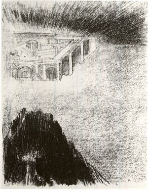 Odilon Redon (French, 1840-1916). <em>Apocalypse de Saint-Jean</em>, 1899. Lithograph on China paper laid down, 11 13/16 x 9 5/16 in. (30 x 23.7 cm). Brooklyn Museum, By exchange, 37.7.12 (Photo: Brooklyn Museum, CUR.37.7.12.jpg)