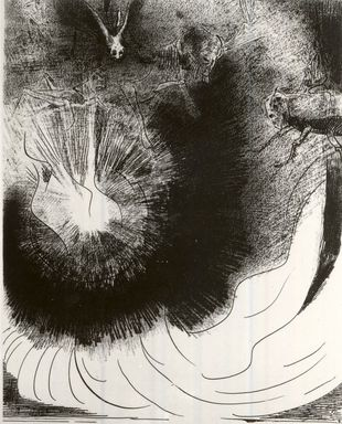 Odilon Redon (French, 1840-1916). <em>Apocalypse de Saint-Jean</em>, 1899. Lithograph on China paper laid down, 11 15/16 x 9 3/16 in. (30.3 x 23.3 cm). Brooklyn Museum, By exchange, 37.7.6 (Photo: Brooklyn Museum, CUR.37.7.6.jpg)
