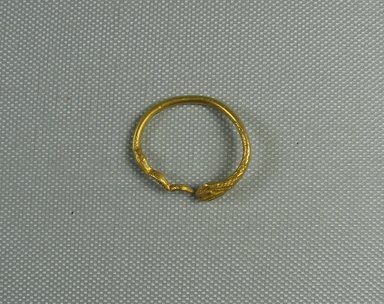 <em>Finger Ring in Form of a Serpent</em>, 1st century C.E. Gold, 1 3/16 in. (3 cm). Brooklyn Museum, Charles Edwin Wilbour Fund, 37.740E. Creative Commons-BY (Photo: Brooklyn Museum, CUR.37.740E_view1.jpg)