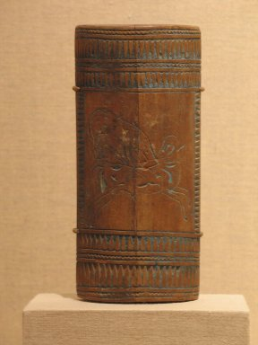 <em>Cosmetic Container</em>, ca. 1336 B.C.E.-1295 B.C.E. Wood (acacia?) Brooklyn Museum, Charles Edwin Wilbour Fund, 37.893E. Creative Commons-BY (Photo: Brooklyn Museum, CUR.37.893E_wwg8.jpg)