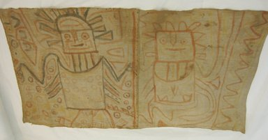 Chancay /Huancho. <em>Textile, undetermined or Hanging</em>, 1400-1532 C.E. or 600-1000 C.E. Cotton, pigment, 27 3/16 x 49 3/16 in. (69 x 125 cm). Brooklyn Museum, Museum Expedition 1938, Dick S. Ramsay Fund, 38.319. Creative Commons-BY (Photo: Brooklyn Museum, CUR.38.319_view1.jpg)