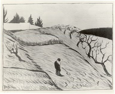 Paul Sérusier (French, 1863-1927). <em>Paysage</em>, 1893. Lithograph on paper, image: 9 x 11 13/16 in. (22.9 x 30 cm). Brooklyn Museum, Charles Stewart Smith Memorial Fund, 38.353 (Photo: Brooklyn Museum, CUR.38.353.jpg)