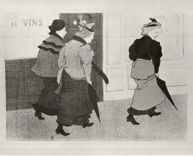 Hermann Paul (French, 1864-1940). <em>Modistes</em>, 1894. Lithograph in colors on wove paper, 9 11/16 x 13 7/8 in. (24.6 x 35.2 cm). Brooklyn Museum, Charles Stewart Smith Memorial Fund, 38.389 (Photo: Brooklyn Museum, CUR.38.389.jpg)