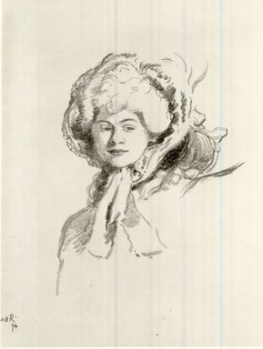 William Rothenstein (British, 1872-1945). <em>Portrait</em>, 1894. Lithograph on wove paper, Image: 15 1/2 x 9 in. (39.4 x 22.9 cm). Brooklyn Museum, Charles Stewart Smith Memorial Fund, 38.412 (Photo: Brooklyn Museum, CUR.38.412.jpg)