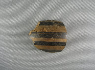 Mycenaean. <em>Jar Fragment</em>, ca. 1425-1300 B.C.E. Clay, pigment, 2 1/4 x 3/16 x 2 1/2 in. (5.7 x 0.4 x 6.4 cm). Brooklyn Museum, Gift of the Egypt Exploration Society, 38.556c. Creative Commons-BY (Photo: Brooklyn Museum, CUR.38.556c_view1.jpg)