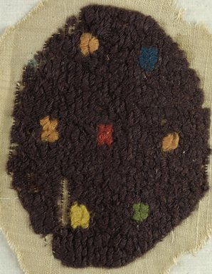 Coptic. <em>Roundel</em>, 5th-6th century C.E. Flax, wool, 7 x 8 in. (17.8 x 20.3 cm). Brooklyn Museum, Charles Edwin Wilbour Fund, 38.662. Creative Commons-BY (Photo: Brooklyn Museum (in collaboration with Index of Christian Art, Princeton University), CUR.38.662_ICA.jpg)