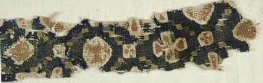 Coptic. <em>Fragment with Animal and Botanical Decoration</em>, 6th century C.E. Flax, wool, 14 x 2 1/8 in. (35.6 x 5.4 cm). Brooklyn Museum, Charles Edwin Wilbour Fund, 38.690. Creative Commons-BY (Photo: Brooklyn Museum (in collaboration with Index of Christian Art, Princeton University), CUR.38.690_detail01_ICA.jpg)