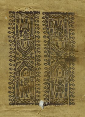 Coptic. <em>Tunic Sleeve Fragment</em>, 6th-7th century C.E. Wool, 8 1/2 x 11 in. (21.6 x 27.9 cm). Brooklyn Museum, Charles Edwin Wilbour Fund, 38.752. Creative Commons-BY (Photo: Brooklyn Museum (in collaboration with Index of Christian Art, Princeton University), CUR.38.752_ICA.jpg)