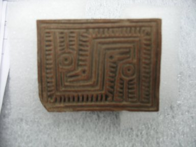 Possibly Aztec. <em>Stamp</em>, 1000-1500. Ceramic, 2 x 2 1/4 x 3 in. (5.1 x 5.7 x 7.6 cm). Brooklyn Museum, Ella C. Woodward Memorial Fund, 39.123.110. Creative Commons-BY (Photo: Brooklyn Museum, CUR.39.123.110.jpg)