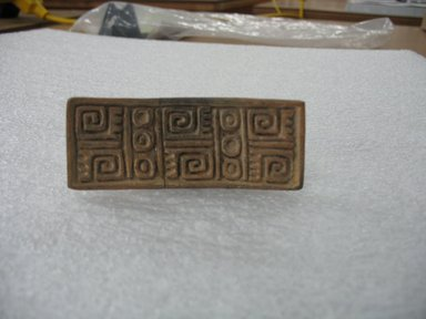 Aztec. <em>Stamp</em>, ca. 1500. Ceramic, 1 3/8 x 1 3/4 x 3 3/8 in. (3.5 x 4.4 x 8.6 cm). Brooklyn Museum, Ella C. Woodward Memorial Fund, 39.123.29. Creative Commons-BY (Photo: Brooklyn Museum, CUR.39.123.29.jpg)