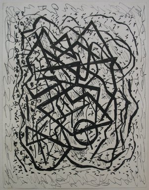 Abraham Walkowitz (American, born Russia, 1878-1965). <em>Abstraction</em>, n.d. Pen and India ink on paper mounted to paper, Sheet (mount): 9 1/16 x 12 1/16 in. (23 x 30.6 cm). Brooklyn Museum, Gift of the artist, 39.470b (Photo: Brooklyn Museum, CUR.39.470b.jpg)