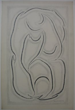 Abraham Walkowitz (American, born Russia, 1878-1965). <em>Abstraction No. 3</em>, n.d. Graphite on paper, Sheet: 18 11/16 x 12 5/16 in. (47.5 x 31.3 cm). Brooklyn Museum, Gift of the artist, 39.477 (Photo: Brooklyn Museum, CUR.39.477.jpg)