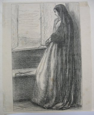 James Abbott McNeill Whistler (American, 1834-1903). <em>Count Burckhardt</em>, n.d. Wood engraving on Japan paper, Sheet: 6 7/16 x 5 1/8 in. (16.4 x 13 cm). Brooklyn Museum, Dick S. Ramsay Fund, 39.620 (Photo: Brooklyn Museum, CUR.39.620.jpg)
