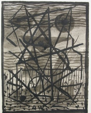Abraham Walkowitz (American, born Russia, 1878-1965). <em>Abstraction - Sail Boats</em>, n.d. Brush and India ink on paper, Sheet: 5 1/2 x 4 1/4 in. (14 x 10.8 cm). Brooklyn Museum, Gift of the artist, 39.649 (Photo: Brooklyn Museum, CUR.39.649.jpg)