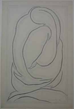 Abraham Walkowitz (American, born Russia, 1878-1965). <em>Abstract Figures</em>, 1913. Graphite on paper, Sheet: 18 5/8 x 12 1/4 in. (47.3 x 31.1 cm). Brooklyn Museum, Gift of the artist, 39.650 (Photo: Brooklyn Museum, CUR.39.650_view1.jpg)