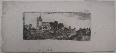 John Clerk of Eldin (British, 1728-1812). <em>Kirk Liston</em>, n.d. Etching and drypoint on laid paper, 1 1/8 x 2 11/16 in. (2.8 x 6.8 cm). Brooklyn Museum, Gift of James K. Callaghan, 39.74 (Photo: Brooklyn Museum, CUR.39.74.jpg)