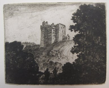 John Clerk of Eldin (British, 1728-1812). <em>Crichton Castle</em>, n.d. Etching and drypoint on laid paper, 3 1/8 x 3 15/16 in. (8 x 10 cm). Brooklyn Museum, Gift of James K. Callaghan, 39.75 (Photo: Brooklyn Museum, CUR.39.75.jpg)