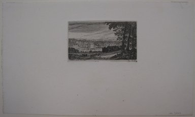 John Clerk of Eldin (British, 1728-1812). <em>Melville Castle</em>. Etching and drypoint on China paper laid down, 22 13/16 x 37 13/16 in. (58 x 96 cm). Brooklyn Museum, Gift of James K. Callaghan, 39.76 (Photo: Brooklyn Museum, CUR.39.76.jpg)