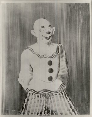 Russell T. Limbach (American, 1904-1971). <em>Clown</em>, 1938. Lithograph from one stone (red) on wove paper, 17 15/16 x 13 15/16 in. (45.6 x 35.4 cm). Brooklyn Museum, Dick S. Ramsay Fund, 39.8.1 (Photo: Brooklyn Museum, CUR.39.8.1.jpg)