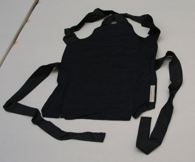 <em>Workman's Costume: Apron with Pocket</em>, 20th century. Sateen, 22 1/16 x 15 3/4 in. (56 x 40 cm). Brooklyn Museum, Museum Collection Fund, 40.150a. Creative Commons-BY (Photo: Brooklyn Museum, CUR.40.150A.jpg)