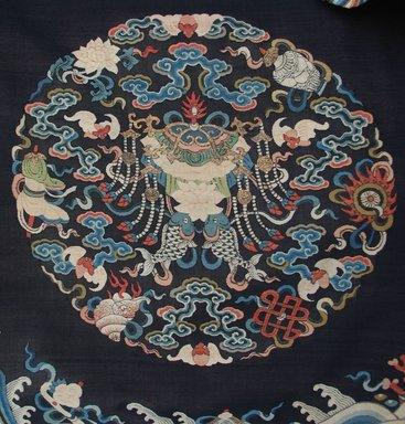 <em>Man's Court Robe</em>, 19th century. Silk, Metallic thread, armpit to armpit: 29 1/2 x 57 5/8 in. (75 x 146.4 cm). Brooklyn Museum, Gift of Frederic B. Pratt, 40.316. Creative Commons-BY (Photo: Brooklyn Museum, CUR.40.316_detail1.jpg)