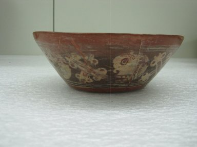 Aztec. <em>Bowl</em>, ca. 1325-1500. Ceramic, pigment, 1 15/16 x 6 5/8 x 6 5/8 in. (5 x 16.8 x 16.8 cm). Brooklyn Museum, 40.36. Creative Commons-BY (Photo: Brooklyn Museum, CUR.40.36_view1.jpg)