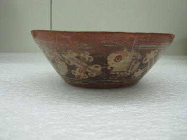 Aztec. <em>Bowl</em>, ca. 1325-1500. Ceramic, pigment, 1 15/16 x 6 5/8 x 6 5/8 in. (5 x 16.8 x 16.8 cm). Brooklyn Museum, 40.36. Creative Commons-BY (Photo: Brooklyn Museum, CUR.40.36_view1.jpg)