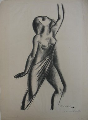 Maurice Sterne (American, born Latvia, 1877-1957). <em>Dancer</em>, n.d. Lithograph on white wove paper, Sheet: 18 1/16 x 13 1/4 in. (45.9 x 33.7 cm). Brooklyn Museum, Gift of Elizabeth Riefstahl, 40.375 (Photo: Brooklyn Museum, CUR.40.375.jpg)