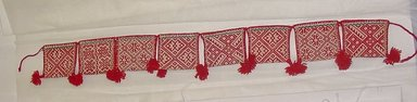 Huichol (Wixárika). <em>Belt of Little Bags</em>. Woven wool, cotton Brooklyn Museum, Ella C. Woodward Memorial Fund, 40.741. Creative Commons-BY (Photo: Brooklyn Museum, CUR.40.741_view1.jpg)