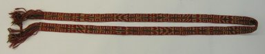 Mapuche. <em>Woven Belt</em>, ca. 1941. Wool and cotton, 1 9/16 x 8 13/16 in. (4 x 22.4 cm). Brooklyn Museum, Museum Expedition 1941, Frank L. Babbott Fund, 41.1273.8. Creative Commons-BY (Photo: Brooklyn Museum, CUR.41.1273.8.jpg)