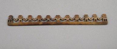 <em>Balance Scale Beam</em>. Bone, fiber, pigment, 9/16 x 1/8 x 5 1/2 in. (1.4 x 0.3 x 14 cm). Brooklyn Museum, Museum Expedition 1941, Frank L. Babbott Fund, 41.1275.121. Creative Commons-BY (Photo: Brooklyn Museum, CUR.41.1275.121_front.jpg)