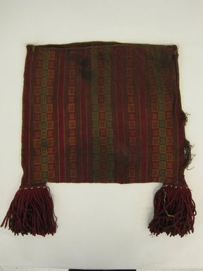 Inca/Moquegua. <em>Bag</em>, 1400-1532. Camelid fiber, 11 7/16 x 13 3/4 x 4 3/4in. (29 x 35 x 12cm). Brooklyn Museum, Museum Expedition 1941, Frank L. Babbott Fund, 41.1275.132. Creative Commons-BY (Photo: Brooklyn Museum, CUR.41.1275.132_view1.jpg)