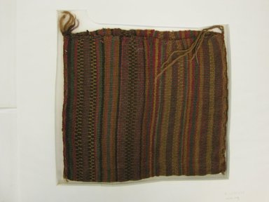Inca/Moquegua. <em>Bag</em>, 1400-1532. Camelid fiber, 10 5/8 x 11 7/16in. (27 x 29cm). Brooklyn Museum, Museum Expedition 1941, Frank L. Babbott Fund, 41.1275.133. Creative Commons-BY (Photo: Brooklyn Museum, CUR.41.1275.133_view1.jpg)