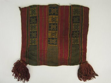 Inca/Moquegua. <em>Bag</em>, 1400-1532. Cotton, camelid fiber, 9 7/16 x 10 1/4 x 3 9/16in. (24 x 26 x 9cm). Brooklyn Museum, Museum Expedition 1941, Frank L. Babbott Fund, 41.1275.134. Creative Commons-BY (Photo: Brooklyn Museum, CUR.41.1275.134_view1.jpg)
