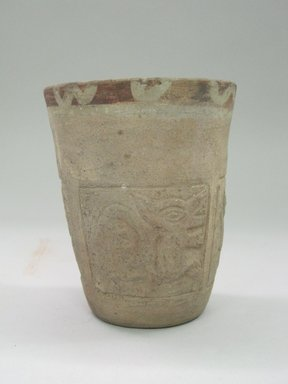 Wari/Chancay. <em>Cup</em>. Ceramic, pigment, 4 3/4 x 3 3/4 x 3 3/4 in. (12.1 x 9.5 x 9.5 cm). Brooklyn Museum, Museum Expedition 1941, Frank L. Babbott Fund, 41.1275.15. Creative Commons-BY (Photo: Brooklyn Museum, CUR.41.1275.15_side.jpg)